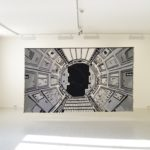 Mothership during installation in the gallery