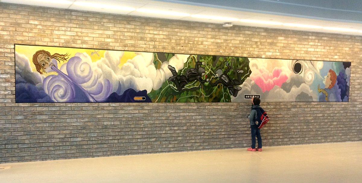 Public art tapestry