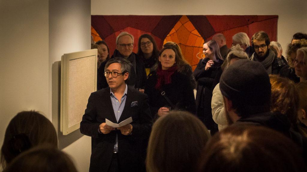 Joakim Borda-Pedreira giving his speech